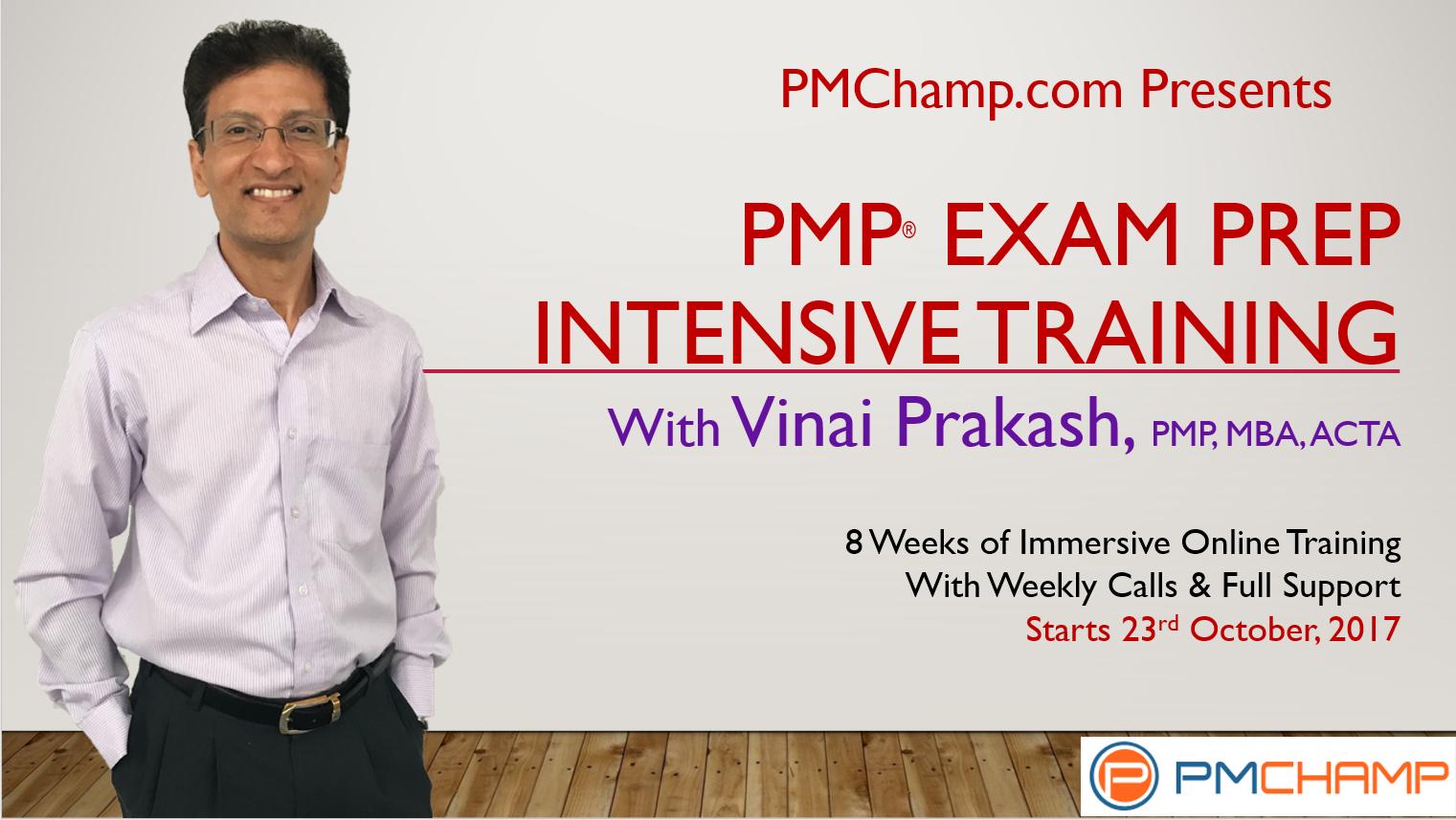 PMP Training With Vinai Prakash